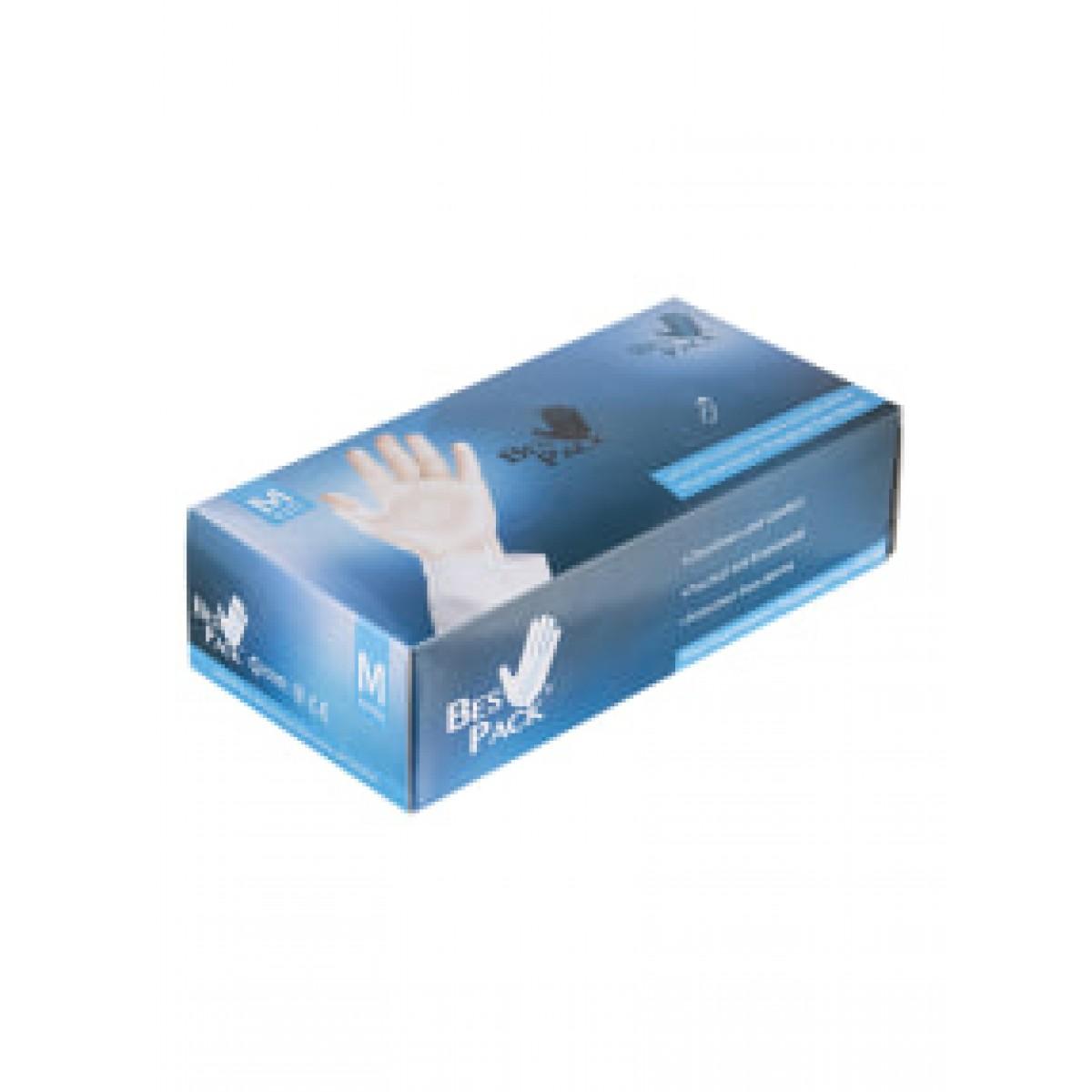 بيس باك قفازات مصنوعة من الفينيل شفاف Medium